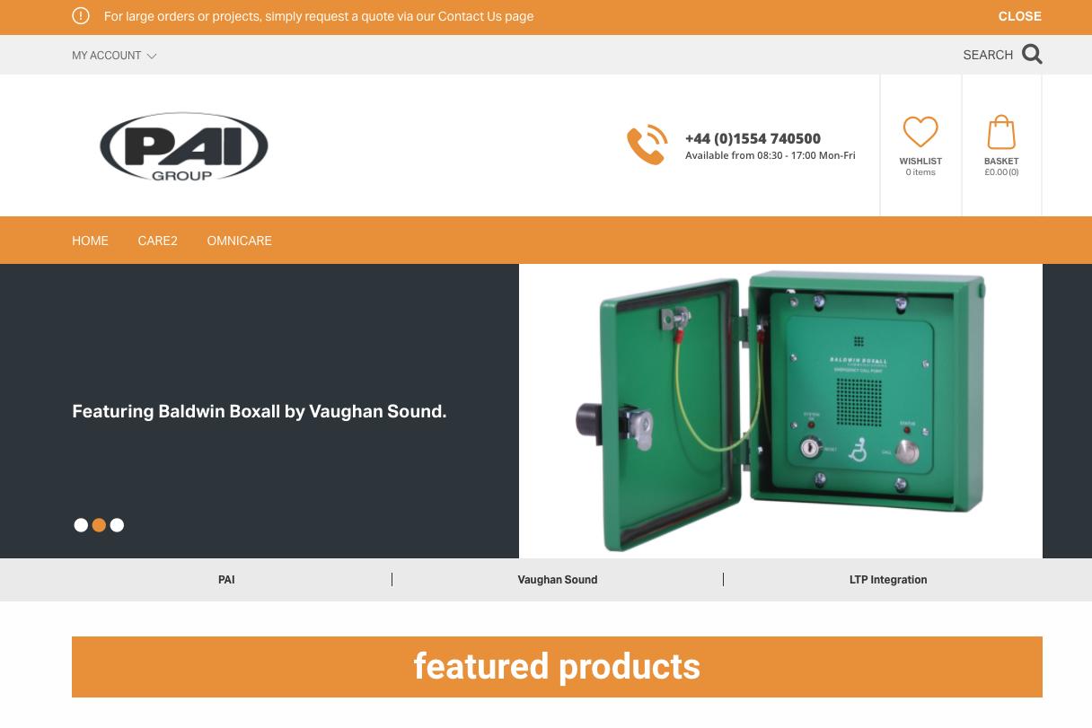 Web Shop - PAI Group